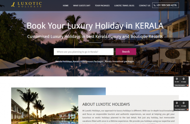 Luxotic Holidays - YiiPowered